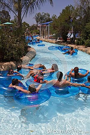 Beat The Heat Tubing In California Editorial Image