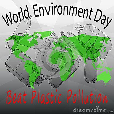 Free Beat Plastic Pollution. World Environment Day Stock Photography - 113262682