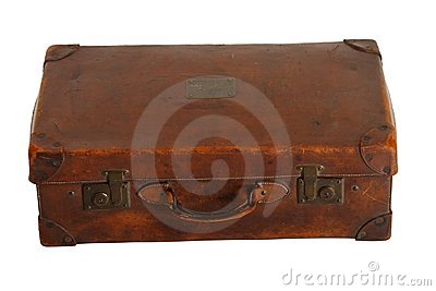 Beaten-up vintage luggage
