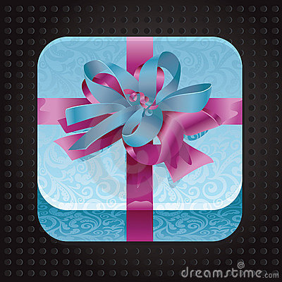 Beatiful app icon with present