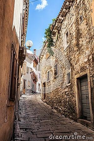 Free Beatiful Narrow Street In Mediterranean Europe, Croatia Stock Photo - 51250360