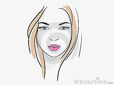 Beatiful woman portrait sketch