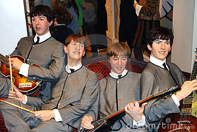 The Beatles at Madame Tussaud s Editorial Photography