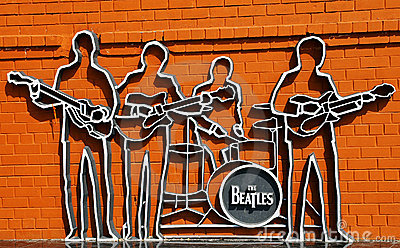 The Beatles monument in Ekaterinburg Editorial Stock Image