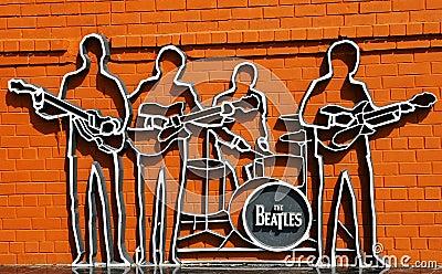The Beatles monument in Ekaterinburg Editorial Stock Image