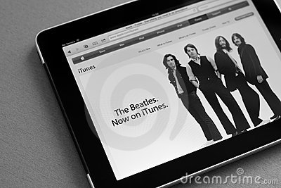 The Beatles now on iTunes Editorial Image