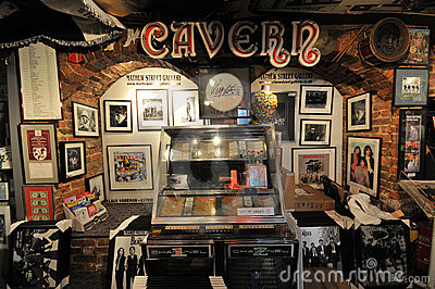 Beatles shop mathew street in liverpoo Editorial Stock Photo