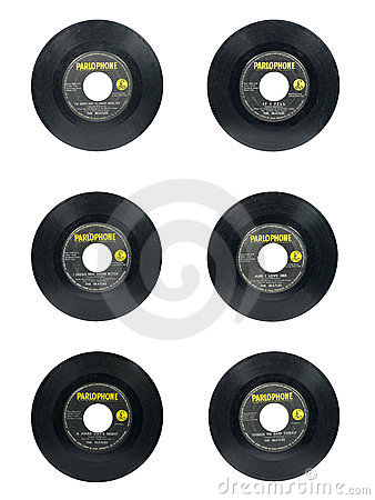 Beatles singles Editorial Photo