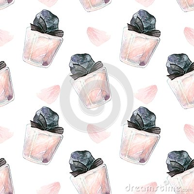 Beaty makeup parfume pattern Stock Photo