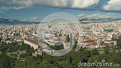 Beau donnez sur d'Athènes Grèce banque de vidéos