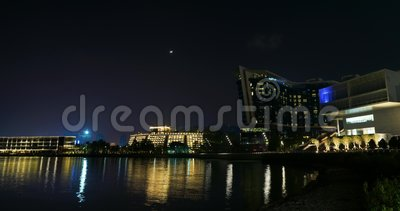 Beau laps de temps de nuit Chine, Shenzhen banque de vidéos