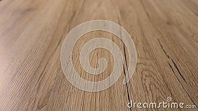 Beau parquet en bois lisse fini avec style moderne et les plus belles couleurs naturelles d'érable en bois dur Amélioration des m banque de vidéos