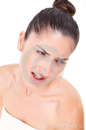 Beau Visage De Mod Le De Femme Avec Le Maquillage Naturel Photographie Stock Image 32443982