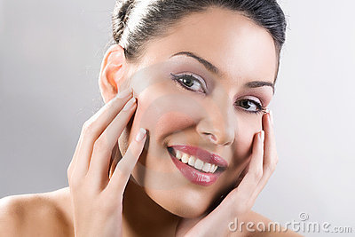 Beautful woman smile