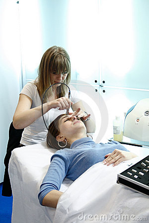 Beautician makes the procedure Editorial Photography