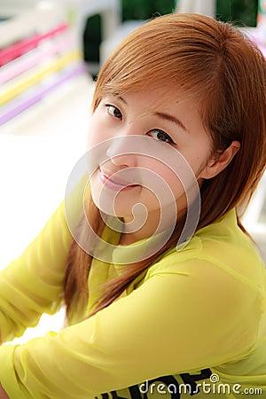 Beautifu Asian woman taken in natural light