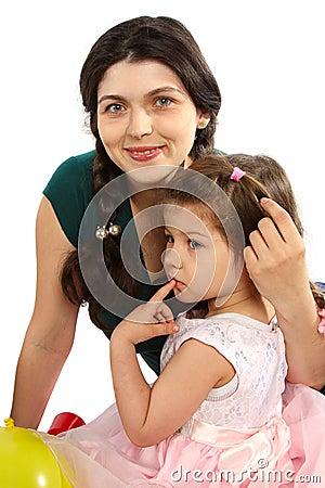 Beautifu mother and daughter