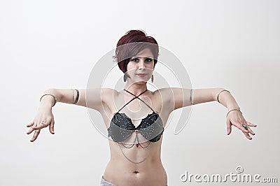 Beautifu tribal belly dancer