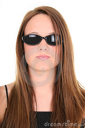 Beautiful 14 Year Old Teen Girl In Dark Sunglasses