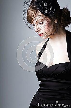 Beautiful 1930s Style Woman Stock Photo Image 12627640