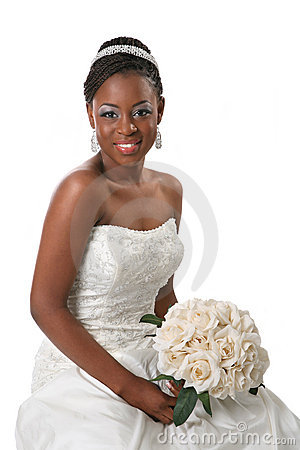 Beautiful African American Bride Portrait Royalty Free
