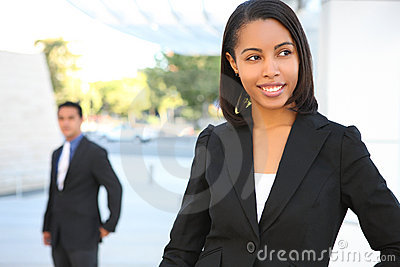 Beautiful African American Business Woman