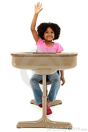 beautiful american child sitting in a desk royalty free stock photo image 24015905