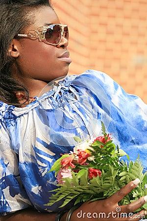 Beautiful African American Female