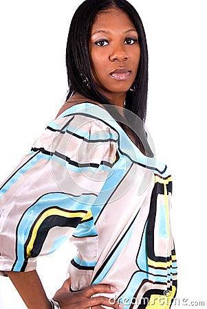 Beautiful African American wom