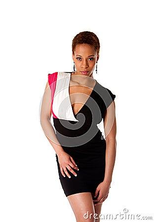 Beautiful African fashion business woman