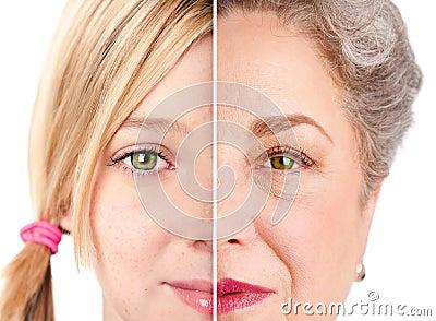 Beautiful Ageing face eyes