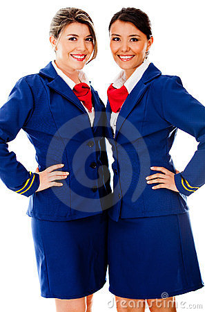 Beautiful air hostesses