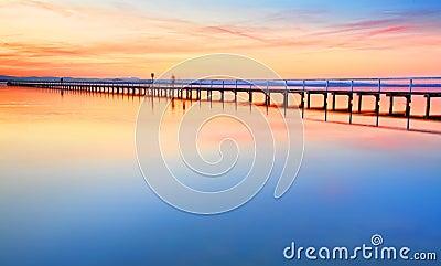 Beautiful amazing sunset at Long Jetty Australia
