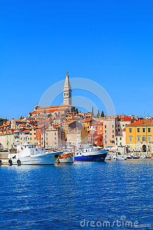 Free Beautiful And Cozy Medieval Town Of Rovinj, Colorful With Houses Royalty Free Stock Photography - 110179407