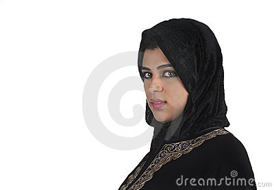 Beautiful Arabian Lady Wearing Traditional Islamic Royalty Free Stock Images - Image: 22274769