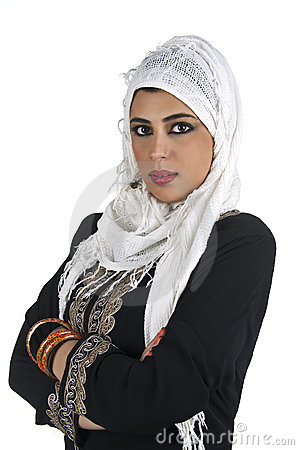Beautiful arabian lady wearing traditional islamic