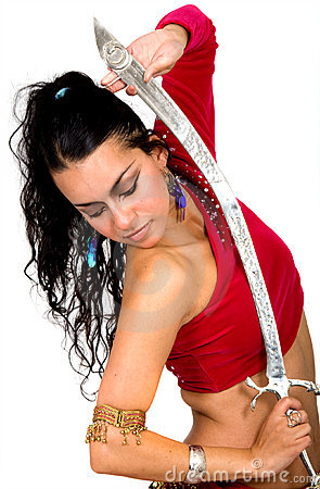 Beautiful arabic dancer