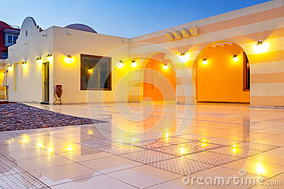 Beautiful architecture of Hurghada Marina