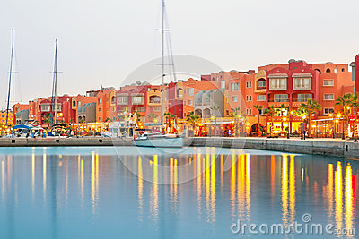 Beautiful architecture of Hurghada Marina