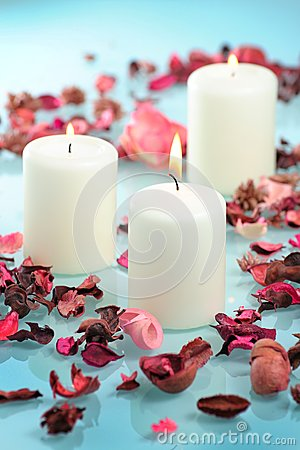 Beautiful aromatic candle