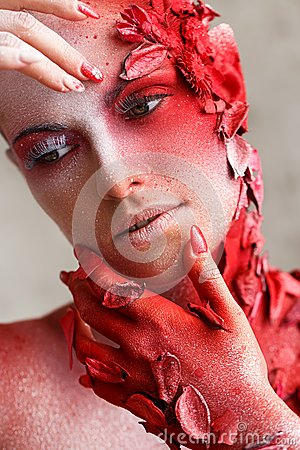 Free Beautiful, Artistic Makeup Royalty Free Stock Image - 47040506