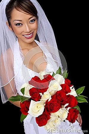Beautiful Asian Bride at Wedding