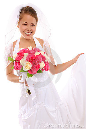 Beautiful Asian Bride at Wedding