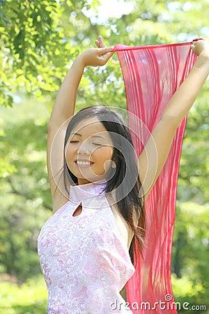Beautiful Asian female