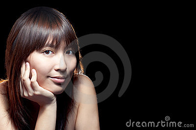Beautiful Asian girl with perfect skin
