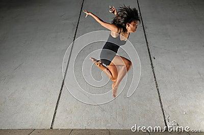 Beautiful Asian Girl performing a dance action