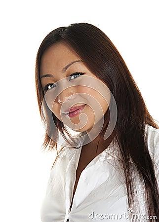 Beautiful asian girl smiling