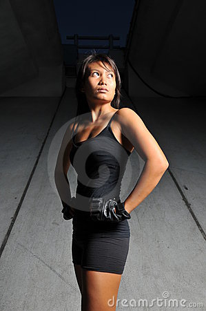 Beautiful Asian Sports woman