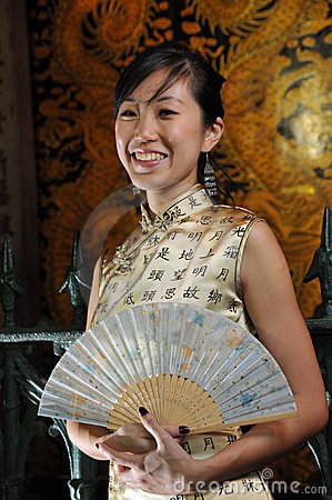 Beautiful Asian Woman In Oriental Theme