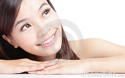 Beautiful asian woman smile face